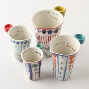 Anthropologie Dot Pattern Measuring Cups